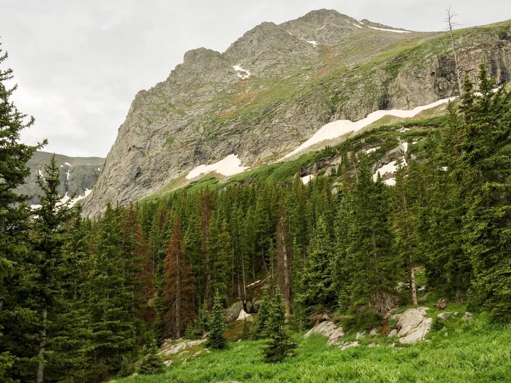 The upper parts of Tijeras Peak
