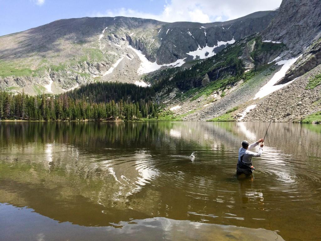 Matt catching fish. Photo by Reggie