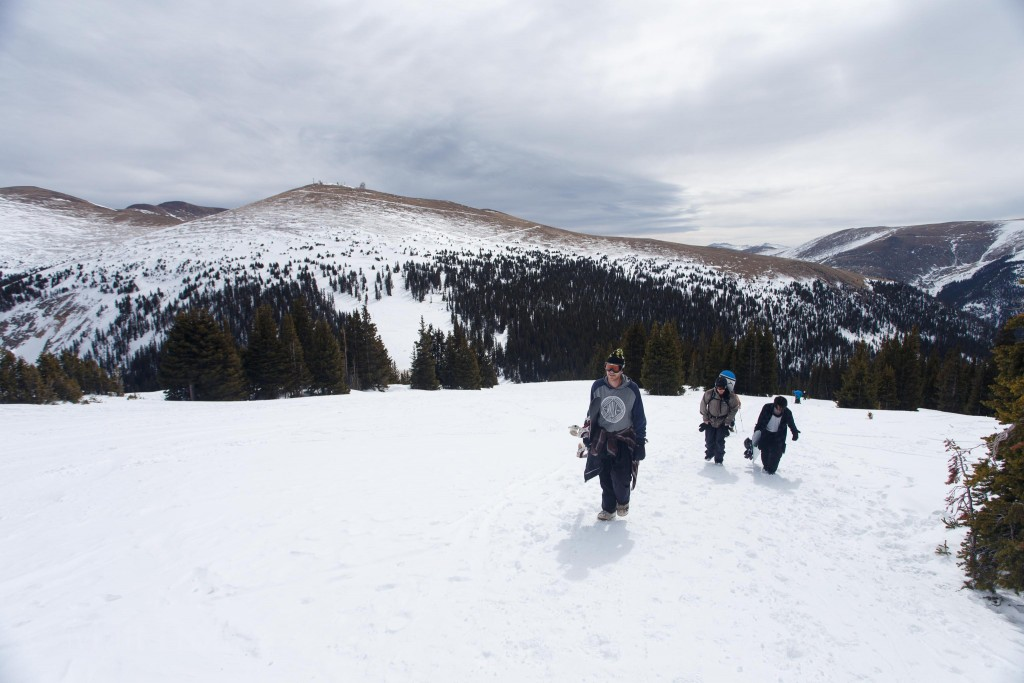 Hiking up, looking back toward the opposite side of Berthoud Pass