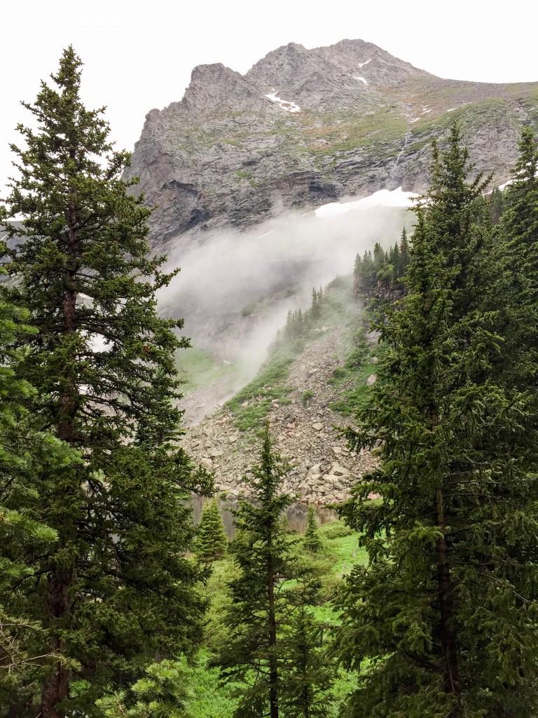 Clouds rising up Tijeras Peak